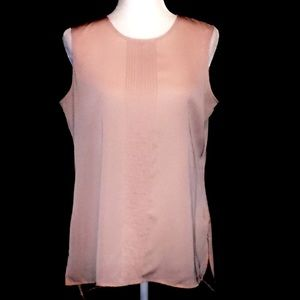 Tommy Hilfiger Silky Pleated Tank Top Pink Medium